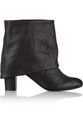 See By Chloe Fold Over Leather Boots Black