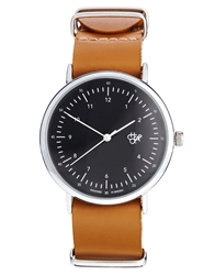 Cheapo Harold Brown Leather Strap Watch