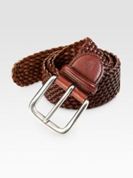 Polo Ralph Lauren Braided Leather Belt Brown