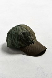 Urban Outfitters Uo Quilted Military Baseball Hat Olive