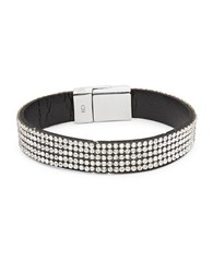 Design Lab Lord And Taylor Stone Accented Magnetic Bracelet Crystal