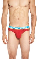 Andrew Christian Men's 'Happy' Tagless Briefs Red