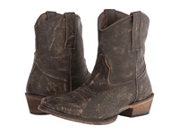 Roper Brush Off Ankle Boot Snip Toe Brown Cowboy Boots
