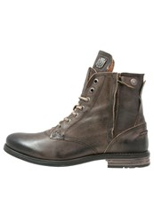 Sneaky Steve Kingdom Laceup Boots Charcoal Black