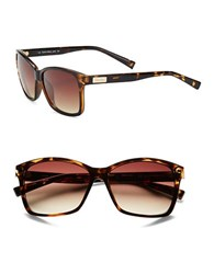 Calvin Klein Tortoise Shell 57Mm Square Sunglasses