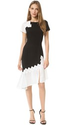 Jonathan Simkhai Diamond Mesh Tee Dress Black White
