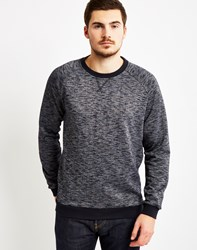 Only And Sons Mens Crew Neck With Space Died Melange Navy