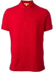 Burberry Brit Classic Polo Shirt Red