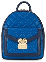 Love Moschino Quilted Backpack Blue