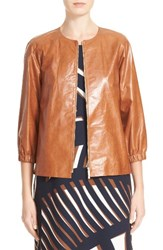 Lafayette 148 New York Women's Wylie Leather Jacket