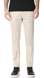 Helmut Lang Sateen Suiting Slim Trousers Desert Sand