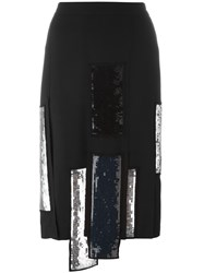 Msgm Sequin Detailing Pencil Skirt Black