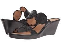 Jack Rogers Shelby Stacked Black Women's Wedge Shoes