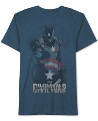 Jem Men's Captain America Civil War T Shirt French Blue