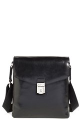 Men's Bosca 'Man Bag' Leather Crossbody Bag Black