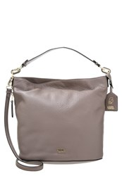 Karl Lagerfeld Grainy Bucket Handbag Rosy Brown Taupe