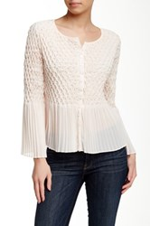 Yoana Baraschi Crystal Pleated Blouse Pink
