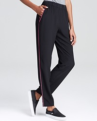 Magaschoni Slouchy Silk Pants Noir Pink