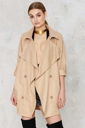Nasty Gal Annika Cropped Trench Coat