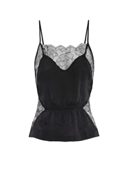 Fleur Du Mal Rose Lace And Silk Cami