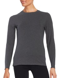 Lord And Taylor Compact Tee Graphite Heather