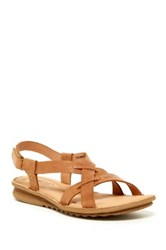 Born Rainey Open Toe Wedge Sandal Brown
