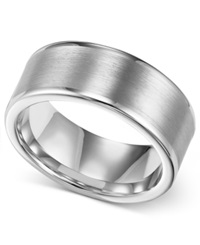 Triton Men's Ring 8Mm White Tungsten Wedding Band