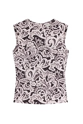 Mary Katrantzou Printed Silk Sleeveless Blouse Multicolor