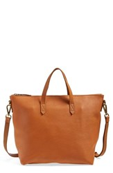 Madewell Leather Zip Transport Bag
