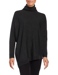 Eileen Fisher Petite Solid Turtleneck Pullover Charcoal