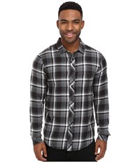Billabong Vantage Flannel Shirt Asphalt Men's Long Sleeve Button Up Black