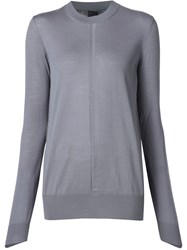Vera Wang Contrast Panel Jumper Pink And Purple