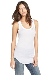 Women's Treasure And Bond Ribbed Racerback Tank White