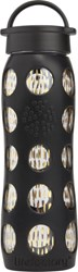 Cb2 Onyx Black And Gold Glass Water Bottle