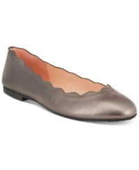 French Sole Fs Ny Jigsaw Flats Women's Shoes Pewter Mettalic 2