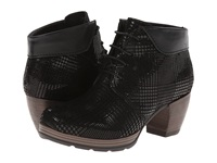 Wolky Jacquerie Black Dessin Suede Women's Boots
