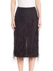 Jason Wu Feather Voile Skirt Black