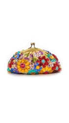 Santi Jeweled Flower Clutch Multi