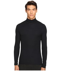 Atm Anthony Thomas Melillo Long Sleeve Rib Turtleneck Sweater Black