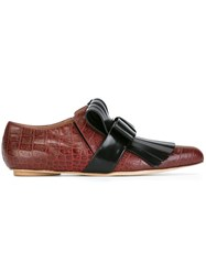 Marni Fringed Loafers Red