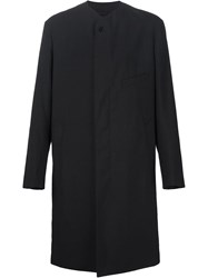 Christophe Lemaire Lemaire Collarless Coat Black