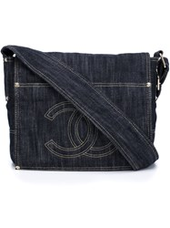Chanel Vintage Cc Messenger Bag Blue