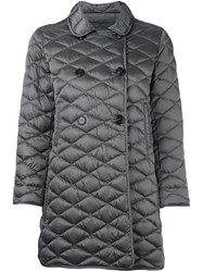 Max Mara 'S Double Breasted Quilted Coat Grey