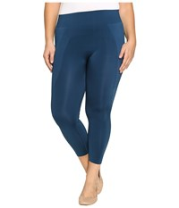 Hue Plus Size Seamless Shaping Capris Insignia Blue Women's Capri