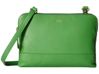 Knomo London Davies Leather Crossbody Bag Green Cross Body Handbags