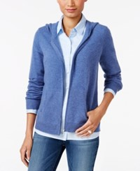 Charter Club Cashmere Zip Front Hoodie Only At Macy's Bluegrass