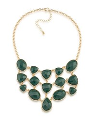 1St And Gorgeous Studded Bib Necklace Green