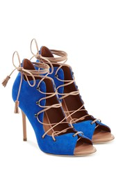 Malone Souliers Sherry Suede Stiletto Sandals Blue