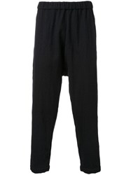 Gold Milling Wool Easy Trousers Black