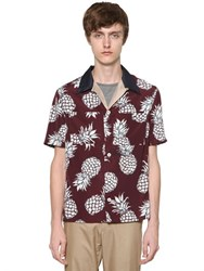 Valentino Pineapple Printed Viscose Satin Shirt